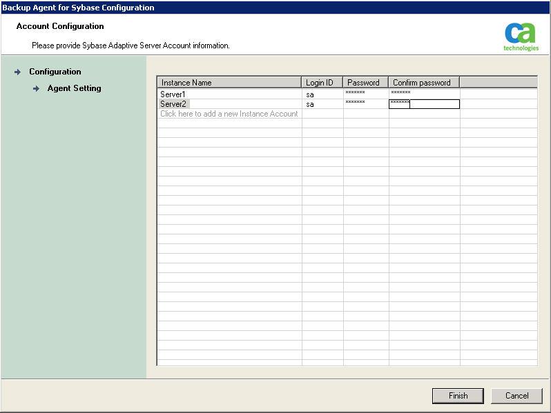 Arcserve Backup настройка резервного копирования нескольких инстансов Sybase SQL